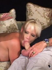Lingerie clad wife Erica Moore got her mouth and cooter simultaneously dicked in this threesome
