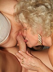 Francesca and Erlene are elderly vixens having a nice time riding a cock during a cam show