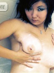 Naughty Asian ex gf Chiyoko A sent us a video of her frolicking naked in the tub